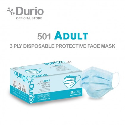 501 Adult 3 Ply Disposable Protective Durio Face Mask
